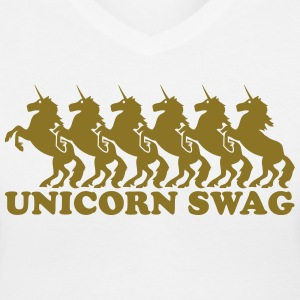 Unicorn Swag (1 Color) Women's T-Shirts - Women's V-Neck T-Shirt
