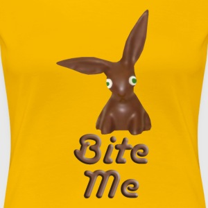 Bite Me Easter Chocolate Bunny Shirt - Women's Premium T-Shirt