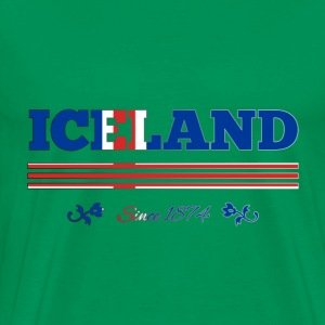 Vintage Colorized Flag ICELAND since 1874 - Men's Premium T-Shirt