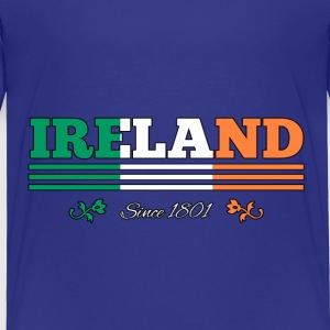 Vintage Colorized Flag IRELAND since 1801 - Toddler Premium T-Shirt