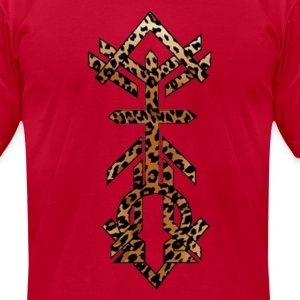 Alpha Omega Leopard Print T-Shirts - Men's T-Shirt by American Apparel