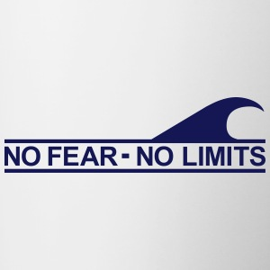 Surf - No fear no limits Bottles & Mugs - Contrast Coffee Mug