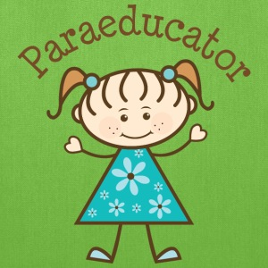 Paraeducator Stick Figure Bags & backpacks - Tote Bag