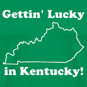 Bright green Gettin' Lucky in Kentucky Men - Men's Premium T-Shirt