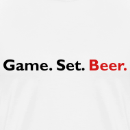 Design ~ Game. Set. Beer. (white)
