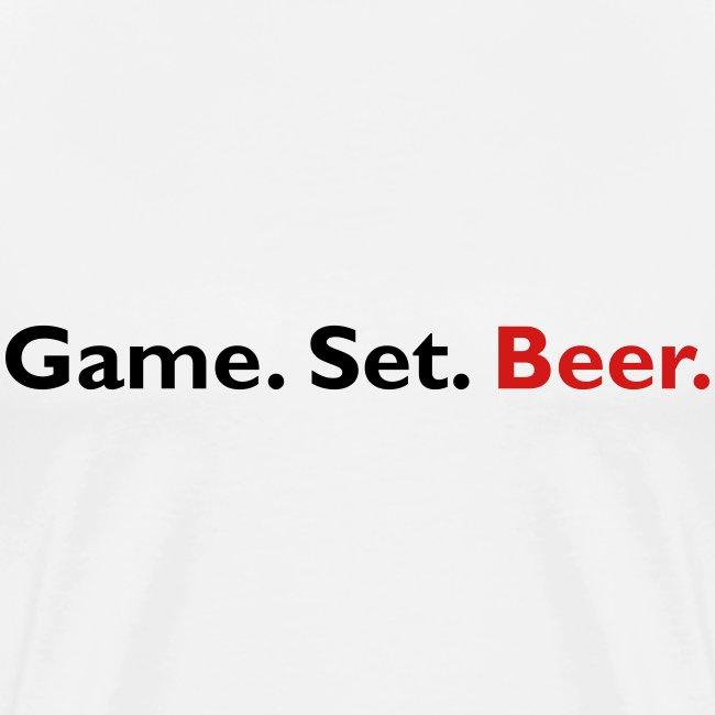 Game. Set. Beer. (white)