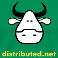 Design ~ green cow with slogan (back)