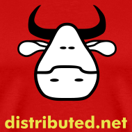 Design ~ red cow with slogan (back)