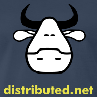 Design ~ navy cow with slogan (back)