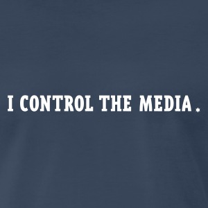 Navy i control the media Men - Men's Premium T-Shirt