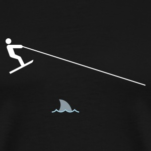 Black jump the shark (3color) Men - Men's Premium T-Shirt