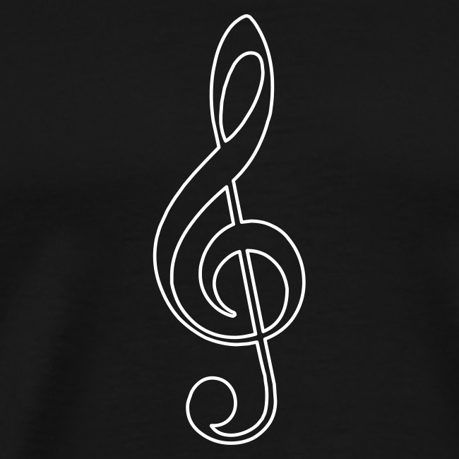 White Treble Clef