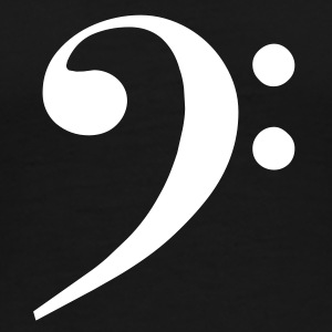 Black Bass Clef T-Shirts - Men's Premium T-Shirt