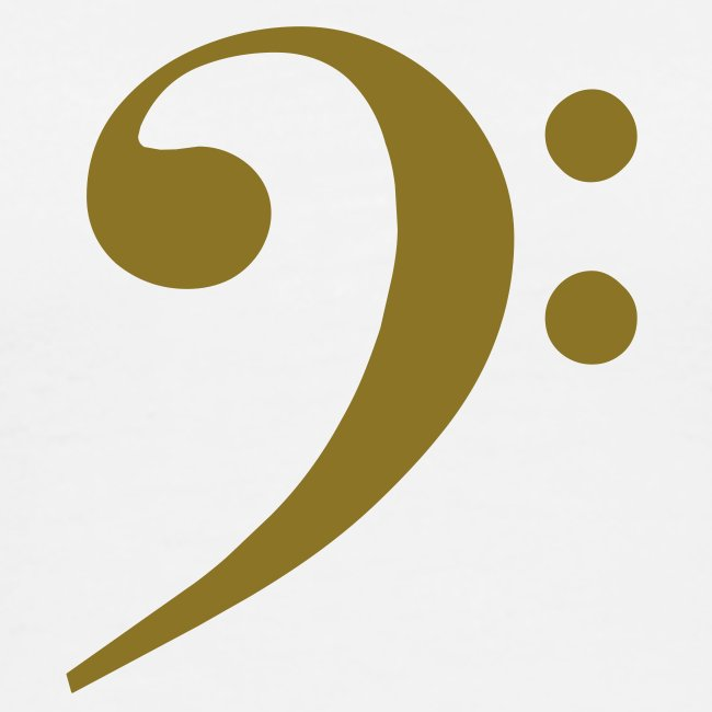 Gold Solid Bass Clef