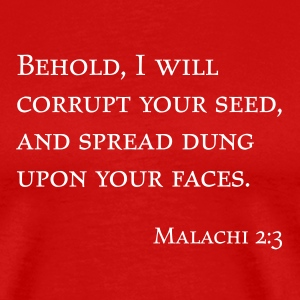 Red Malachi 2:3 Men - Men's Premium T-Shirt