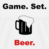 Design ~ Game. Set. Beer. Mug (white)
