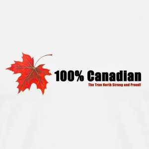 White 100% Canadian T-Shirts - Men's Premium T-Shirt