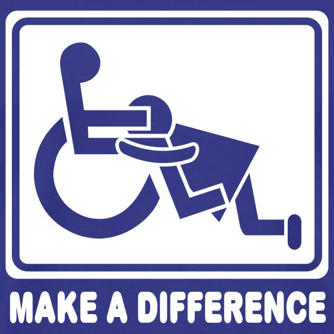 Make a Difference (blue/white)