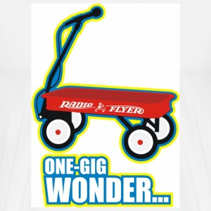 White Radio Flyer - One-Gig Wonder Men - Men's Premium T-Shirt