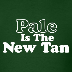 Forest green Pale is the New Tan Men - Men's T-Shirt