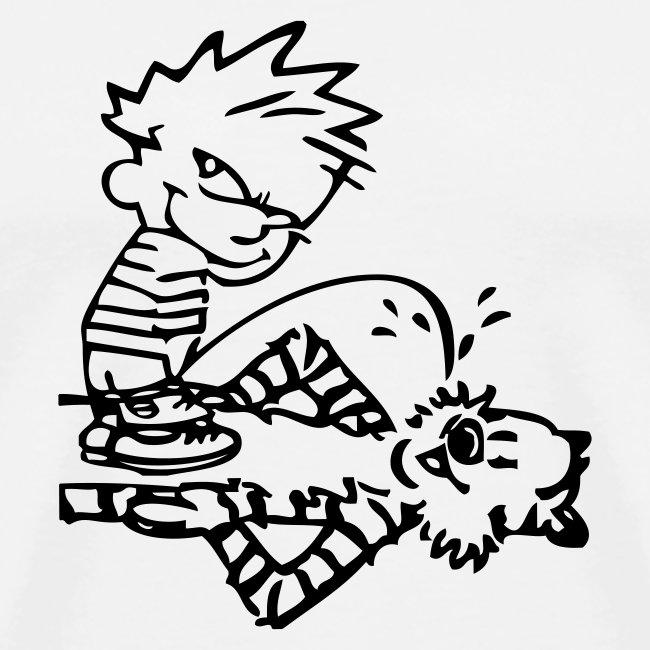 Calvin & Hobbes: Golden Showers (white)