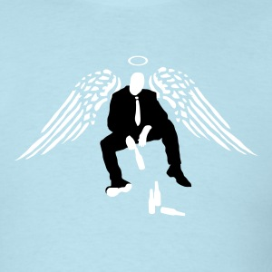 Drinking Angel  T-Shirts - Men's T-Shirt