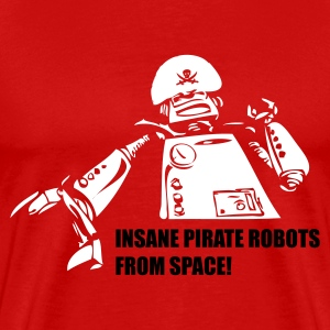 Red Insane Pirate Robots From Space Men - Men's Premium T-Shirt