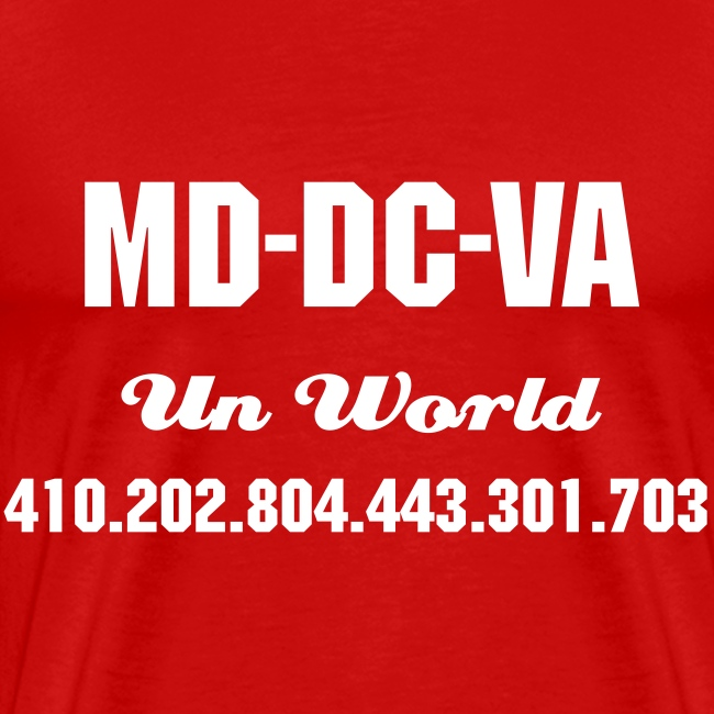 N Area Codes (Red/White)