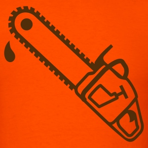 Orange Chainsaw T-Shirts - Men's T-Shirt