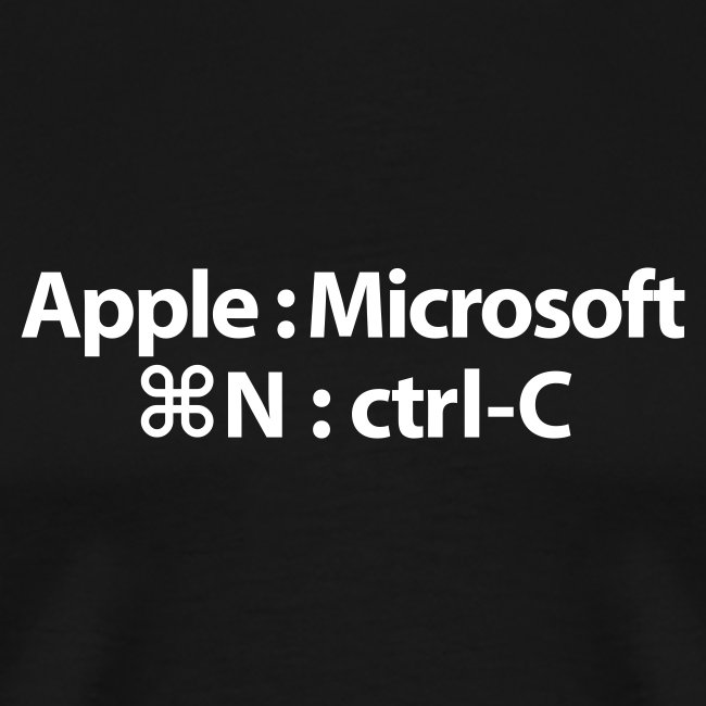 Apple Innovates, Microsoft Imitates T-Shirt
