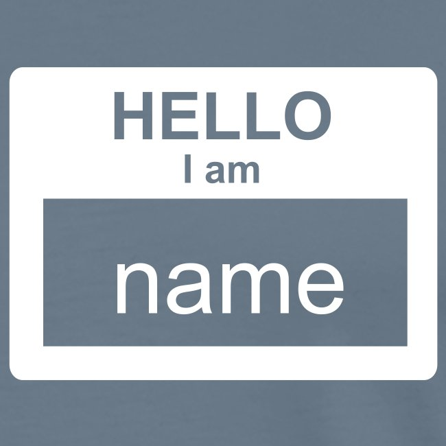Support your name- it editable