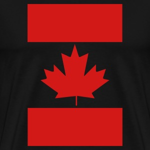 Black Vertical Canada Flag T-Shirts - Men's Premium T-Shirt