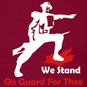 Burgundy We Stand On Guard For Thee Men - Men's T-Shirt