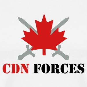 White CDN Forces T-Shirts - Men's Premium T-Shirt