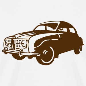 Natural auto_saab_96_1c T-Shirts (Short sleeve) - Men's Premium T-Shirt