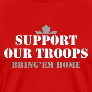 Red Support Our Troops Bring them home T-Shirts - Men's Premium T-Shirt