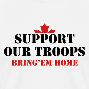 Natural Support Our Troops Bring them home T-Shirts - Men's Premium T-Shirt