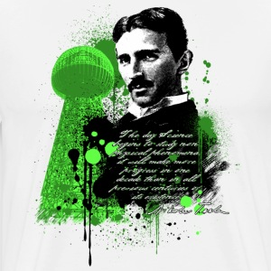 Natural Nikola Tesla - Tesla Coil Tower Men - Men's Premium T-Shirt