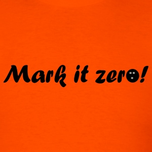 Orange Mark it zero! Men - Men's T-Shirt