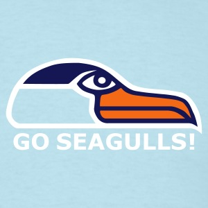 Sky blue Go Seagulls! Men - Men's T-Shirt