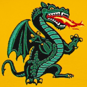 Yellow classic dragon Men - Men's Premium T-Shirt