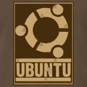 Ubuntu - Unofficial Brown T - Men's Premium T-Shirt