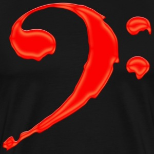 Bloody Bass Clef - Men's Premium T-Shirt