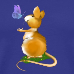 Royal blue Little Field Mouse Men - Men's Premium T-Shirt