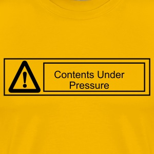 Yellow warning sign Men - Men's Premium T-Shirt