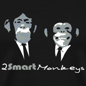 Black Two smart monkeys Men - Men's Premium T-Shirt