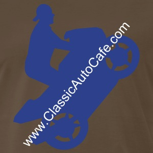 Wheelie Blue/Chocolate - Men's Premium T-Shirt