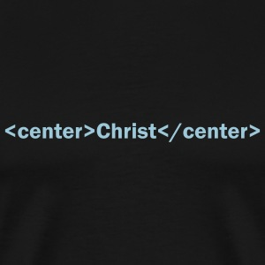 Black Christ Center HTML Men - Men's Premium T-Shirt