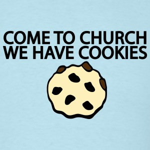 Sky blue Come to Church we have Cookies Men - Men's T-Shirt