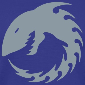 Royal blue Tribal Shark Men - Men's Premium T-Shirt